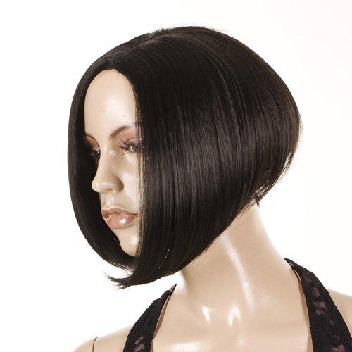 Black Short Bob Style Wig | Victoria Beckham Hairstyle (Posh Spice Fancy Dress)