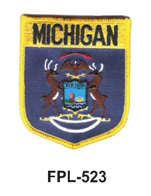 mbroidered Patch (Shield) Michigan ()