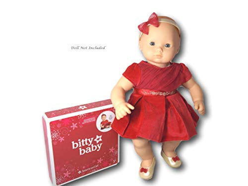 American Girl Bitty Baby Merry & Bright Dress for 15