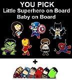 Baby on Board or Superhero on Board Reflective
