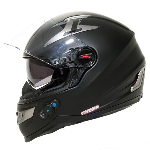 BILT Techno Bluetooth Full-Face Motorcycle Helmet - XL, Matte Black