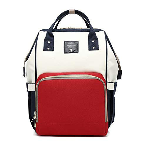 Waterproof Baby Bag Travel Backpack Women Maternity Nursing Bag For Baby Large Capacity Mom Backpack Carry Care Bags white red