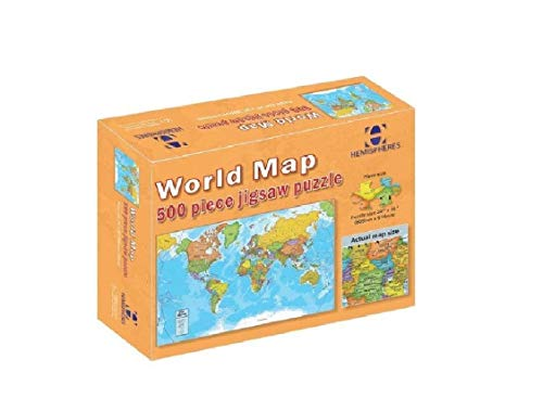 Round World Products World Map Puzzle, 500 Pieces (Central Maps)