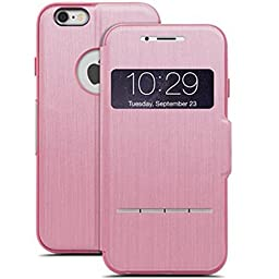 Moshi Sensecover Touch Sensitive Flip Case for iPhone 6/6s (Pink)