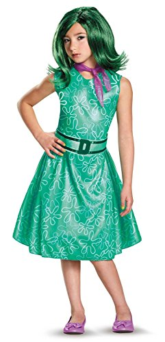 Inside Out Disgust Classic Girls Costumes (Disgust Classic Child Costume, Small (4-6x))