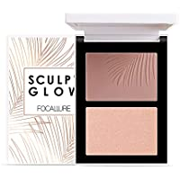 Focallure Powder Contour & Highlight Palette Duo, 01 Maui Nights & Opal