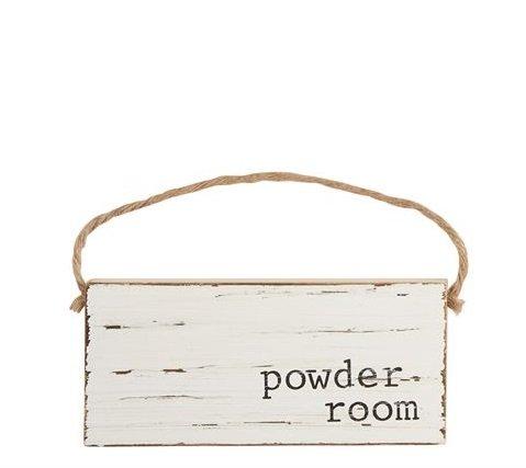 25 Home Decor White Distressed Powder Room Door Hanger