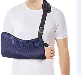 Cabestrillo para brazos - Malla transpirable - Ligero - Estabilice el brazo, el hombro y la muñeca después de lesiones o para un brazo roto - Azul Medium