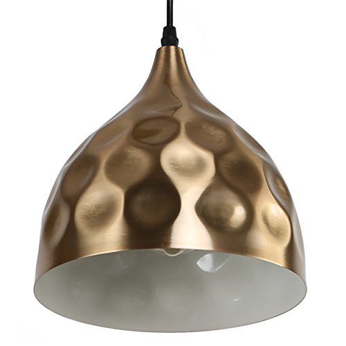 Hammered Brass Pendant Light