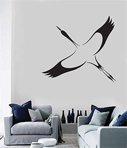 zdcvdv Vinyl Wall Statement Family DIY Decor Art Stickers Home Decor Wall Art Stork Bird Symbol Good Fortune Long Life