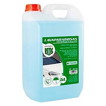 MOTORKIT MOT102 Lavaparabrisas con Repelente 5% manzana-2º Verano, 5 litros