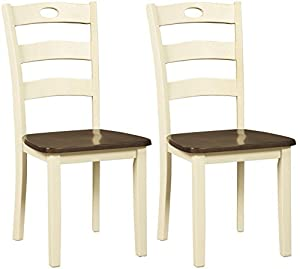 picture of Signature Design By Ashley - Woodanville Dining Room Side Chair - Set of 2 - Casual Style - Cream/Brown