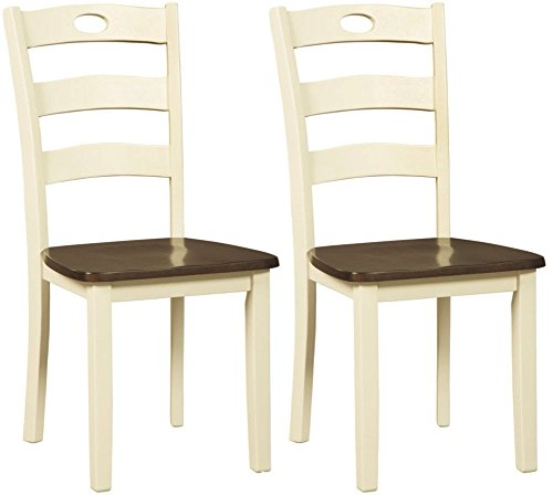 Signature Design By Ashley - Woodanville Dining Room Side Chair - Set of 2 - Casual Style - Cream/Brown,signature design by ashley