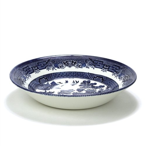 - Blue Willow by Churchill, Stoneware Coupe Soup Bowl