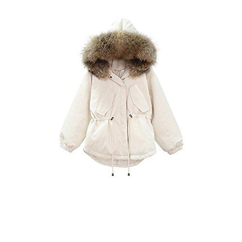 hembra untar Down de un para cabello Jacket Crema para abrigos el tracción invierno tapar pike cable Pana de OqwvA7q