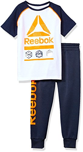 Reebok Toddler Boys' 2 Piece Athletic Set, 2044-Orange Peel, 2T