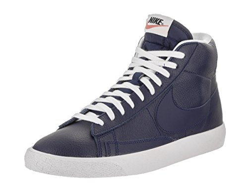 NIKE Men's Blazer Mid PRM Binary Blue/White Black Casual Shoe 11 Men US (Nike Blazer)