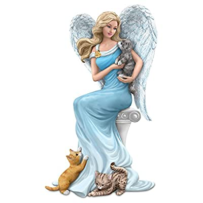 Cats and Guardian Angel Figurine: Hamilton Collection by The Hamilton Collection