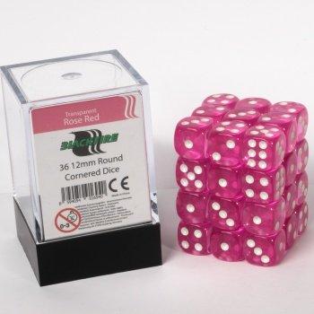 ADC Blackfire Entertainment 91694D6Cube dice set rosa trasparente, rosso, 36x 12mm