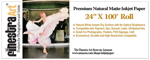 24x100' Roll Premium Natural Matte Inkjet Paper 230gsm ()