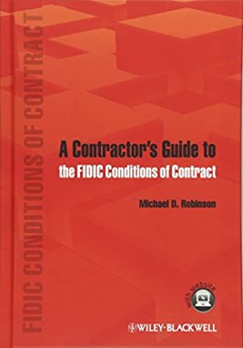 a contractor s guide to the fidic conditions of contract michael d rh amazon com FIDIC Logo FIDIC Standards