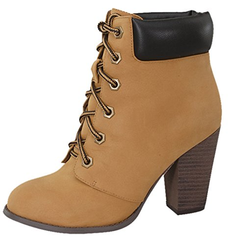 Camel Black Heel Chunky 5 Top Womens Demo Booties Moda Ankle 4Ax1Unaz