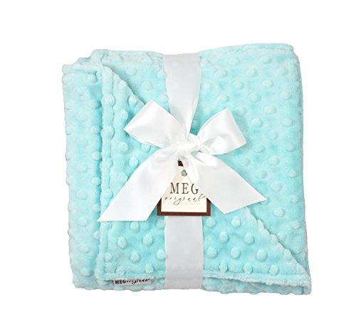- MEG Original Minky Dot Baby Blanket, Saltwater Aqua