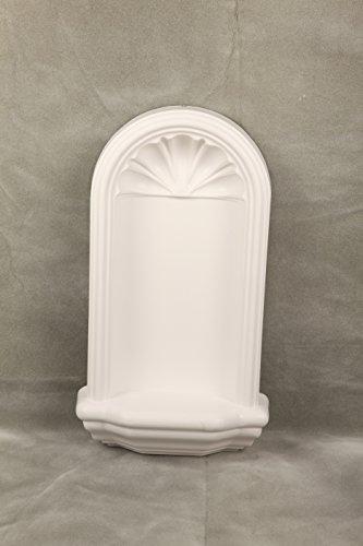 Henta White La Petite Wall Niche Surface Mount DIY Paintable Home Decor, ABS Plastic, 22