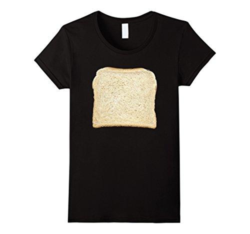 Womens Bread & Toast T-Shirt Halloween Costume Ideas XL Black