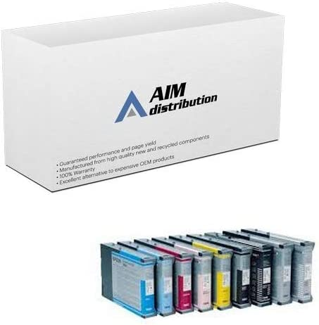 PBK//C//M//Y//LC//LM//LB//MBK//LLB AIM Remanufactured Replacement for Stylus Pro 7800//9800 Inkjet Combo Pack 220 ML T5629MP-US