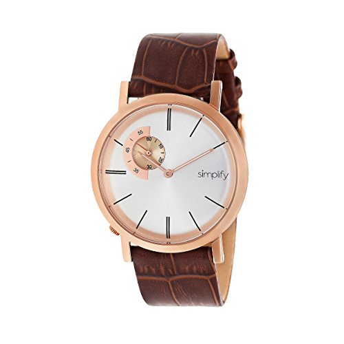 Simplify Men's Japanese Quartz Movement 316L Surgical-Quality Stainless Steel Case and Leather Watch(Model: SIM3106)