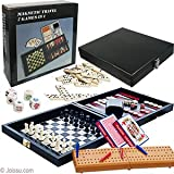 Magnetic Travel 7 Games in 1 with leatherette covered case