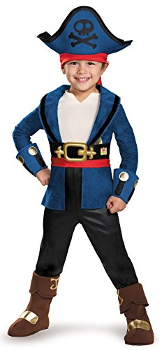 Pirate Captain Costumes Kids (Captain Jake Deluxe Costume, Large (4-6))