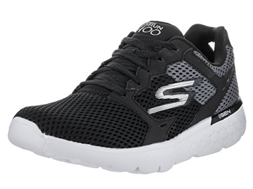 Skechers Performance Women's Go Run 400 Running Shoe, Black/White, 8 M US