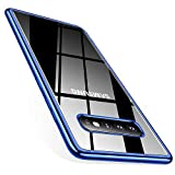 TORRAS Galaxy S10 Case, Crystal Clear [Anti-Yellow] Galaxy S10 Case Ultra Thin Slim Fit Soft TPU Gel Rubber Phone Cover Case for Samsung Galaxy S 10 (2019), Glossy Blue