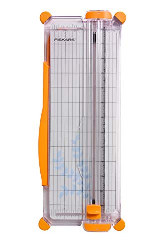 Fiskars SureCut Portable Paper Trimmer, 12 Inch Cut - Essential Scrapbooking