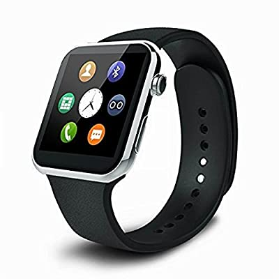 Pandaoo A9 Bluetooth Smartwatch for Iphone and Android Heart Rate Monitor smart watches IP67 waterproof for Android IOS (Silver)