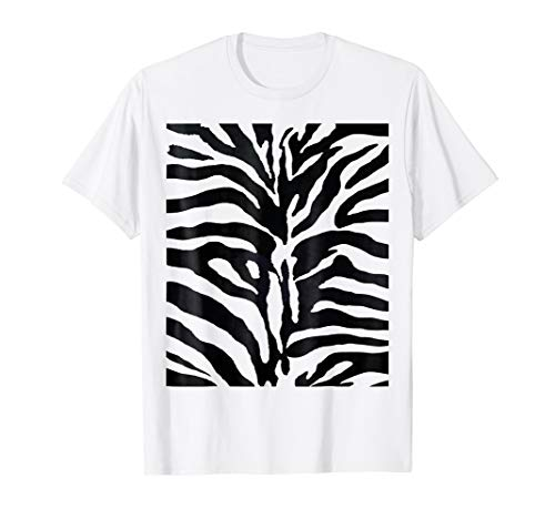 White Siberian Tiger Costume T-Shirt Halloween Fancy Dress -