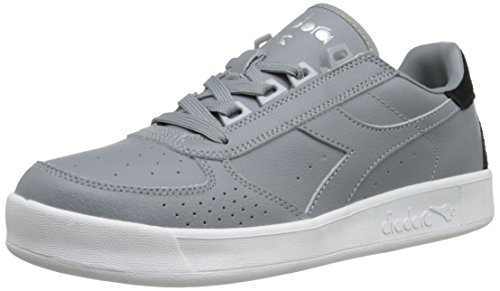 Diadora Men's B.Elite P.L. Court Shoe, Ash Grey, 11.5 M US