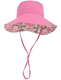 2b8525c4a4a2d Outdoor Beach Travel Hat Women UPF 50+ Reversible Bucket Hats …