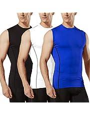 Tesla Men's Sleeveless Muscle Tank Dry Compression Baselayer