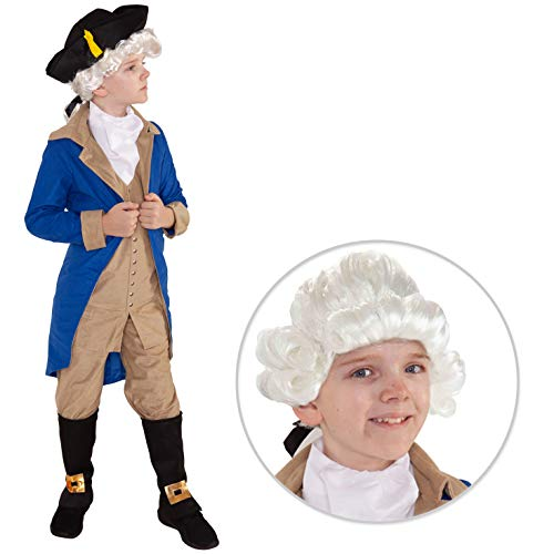 George Washington Children's Costume (Kids President George Washington Costume Childs History American Politician Suit - Small (5 - 7)
