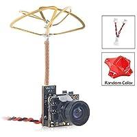 Crazepony-UK Tiny Whoop FPV Micro cámara AIO Camera 120 grados 5.8G Transmisor de 40CH 25mW con antena de hoja de trébol…