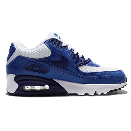 Nike Air Max 90 Mesh (GS) Sneaker Current Collection 2016 different colors White Deep Royal Blue Black 105 RlJHk