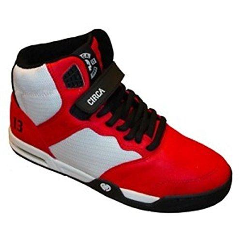 Circa Skateboard Schuhe-- Trece-- Red/White/Black