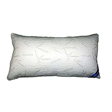 Bamboo Alternative Down Pillow - Hypoallergenic Soft Polyester - Memory Foam Liner Machine Washable - Removable Cooling Cover - More Comfortable Than Shredded Memory Foam - 30 Day Guarantee! (King)