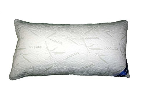 Bamboo Alternative Down Pillow - Hypoallergenic Soft Polyester - Memory Foam Liner Machine Washable - Removable Cooling Cover - More Comfortable Than Shredded Memory Foam - 30 Day Guarantee! (Polyester Foam)