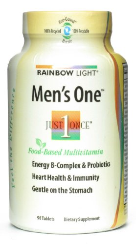 Rainbow Light Just Once Mens One Multivitamin Tablet – 90 per pack – 3 packs per case.