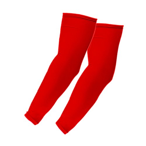 Elixir Arm Sleeves 6 Pairs Bundle Pack for Cycling, Golf, Tennis, Hiking and Outdoor Activities, 6 Pairs Red by The Elixir Golf (Image #2)