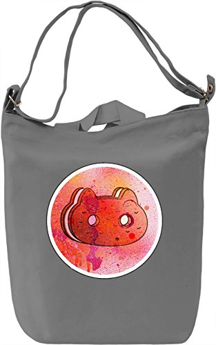 Cookie Cat Borsa Giornaliera Canvas Canvas Day Bag| 100% Premium Cotton Canvas| DTG Printing|